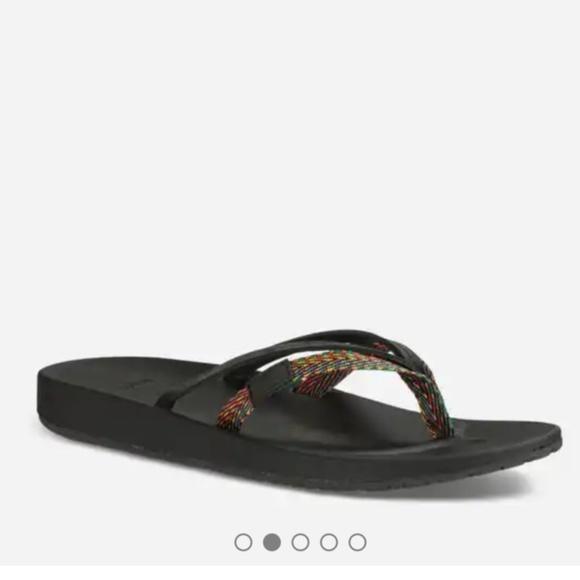 724d2ca93ecdc0 🌞Sale! Teva  Azure 2 Strap  Leather Flip Flops